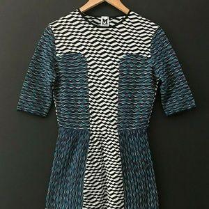 Missoni Black Blue Stripe Work Dress 10